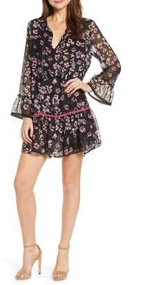 MISA Los Angeles Gallo Floral Drop Waist Minidress