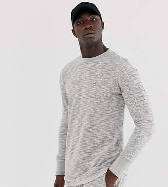 Le Breve Tall ribbed arm crew neck sweatshirt