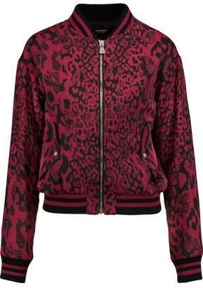 Versace Printed Crepe Bomber Jacket