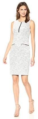 Calvin Klein Women's LINE Detail Jaquard Dress