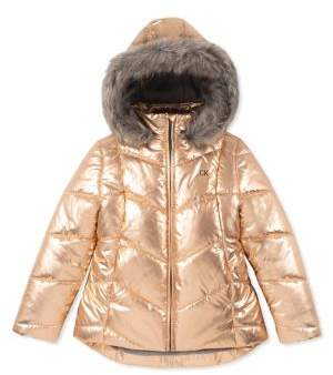 Calvin Klein Little Girl's Faux Fur-Trimmed Puffer Jacket