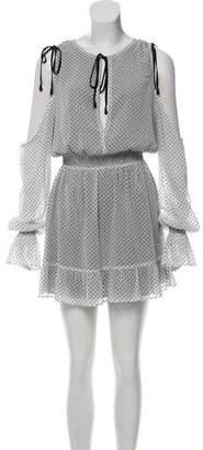 Tularosa Cold Shoulder Polka Dot Dress