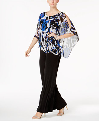 Connected Poncho-Overlay Jumpsuit $79 thestylecure.com