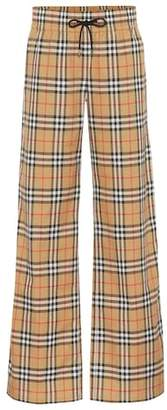 Burberry Checked cotton pants