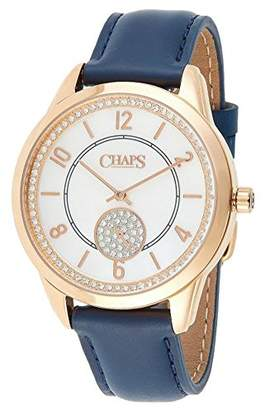Chaps Women's 'Kasia' Quartz Stainless Steel and Leather Casual Watch