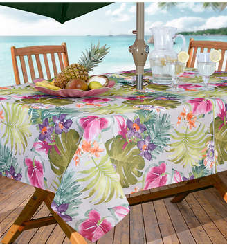 "Elrene Kona Tropics Indoor/Outdoor 60"" x 84"" Umbrella Zip Tablecloth"