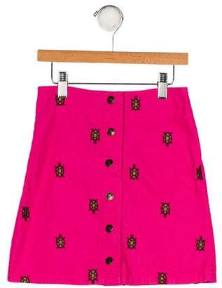 Lilly Pulitzer Girls' Embroidered Corduroy Skirt