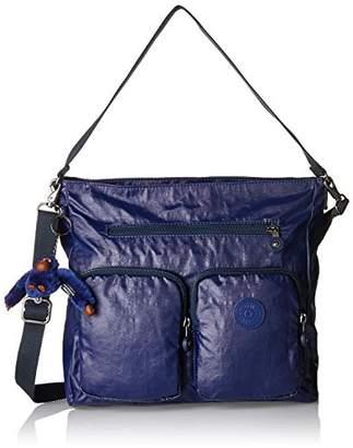 Kipling Tasmo, Women's Shoulder Bag, Blau (Lacquer Indigo), 31x29x14 cm (B x H T)