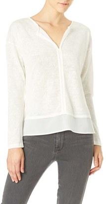 Women's Sanctuary 'Hanna' Split Neck Knit Top $59 thestylecure.com
