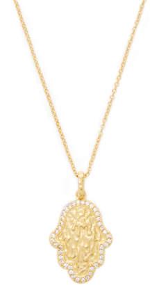 Rivka Friedman Women's CZ Hamsa Pendant Necklace