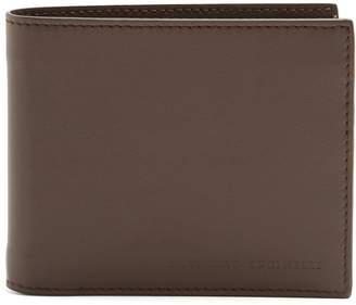 Brunello Cucinelli Logo-debossed bi-fold leather wallet