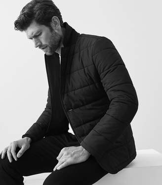 Reiss VINEHALL QUILTED JACKET Black