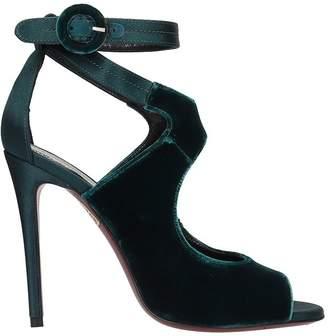 Dei Mille Green Velvet Sandals