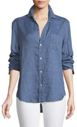 Women S Linen Chambray Shirt Shopstyle