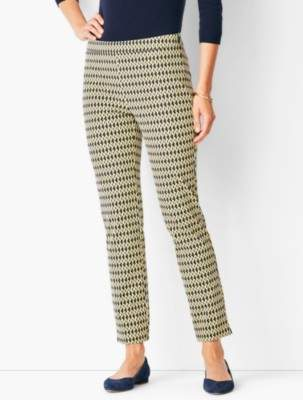 Talbots Chatham Ankle Pants - Abstract Oval