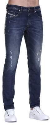 Diesel Thommer Distressed Slim-Fit Jeans