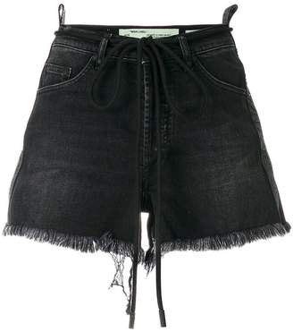 Off-White Cristal distressed shorts