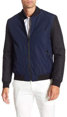 BOSS Belko Long Sleeve Quilted Bomber Jacket