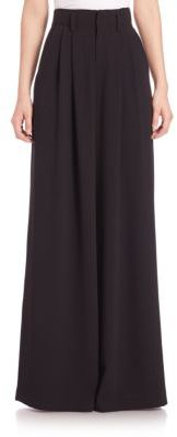 Alice + Olivia Straight Wide-Leg Trousers $298 thestylecure.com