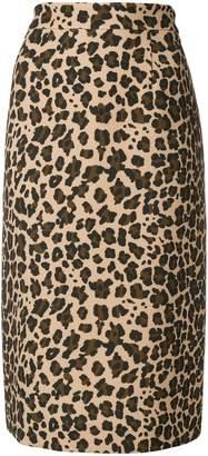 P.A.R.O.S.H. leopard print midi skirt