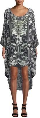 Camilla Scoop-Neck Embellished Coverup Dress