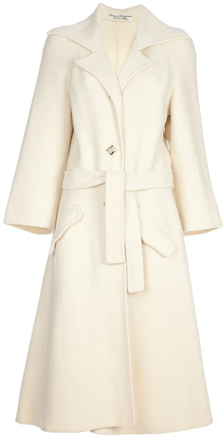 Salvatore Ferragamo Vintage Vintage Princess style coat