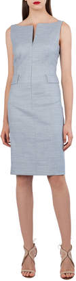 Akris Split-Neck Sleeveless Sheath Dress