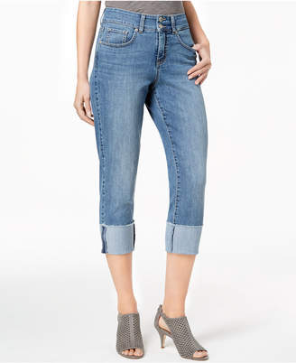 Style&Co. Style & Co Petite Cuffed Cropped Jeans, Created for Macy's