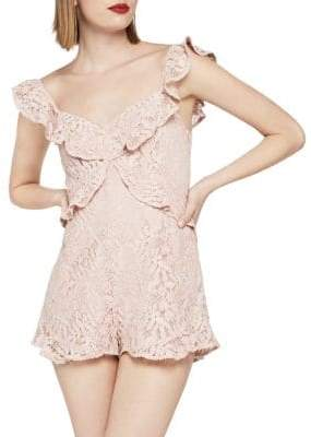 BCBGeneration Ruffle Lace Sleeveless Romper