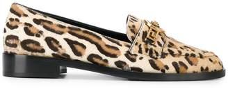 Versace Medusa leopard loafers