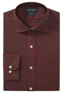 Lauren Ralph Lauren Classic Fit No-Iron Plaid Dress Shirt