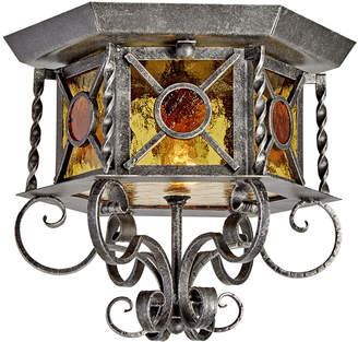 Rejuvenation Romantic Wrought Entry Light w/ Textured Glass