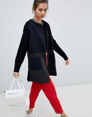 B.young 2-in-1 faux suede coat