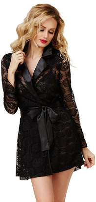 Boss Lady Sexy Lace Trench Robe $88 thestylecure.com