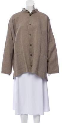 eskandar Oversize Linen-Blend Top
