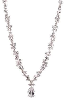 Nadri Allard CZ Cluster Drop Necklace