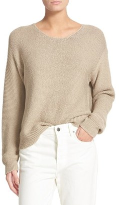 Women's Vince Textured Cotton Pullover $275 thestylecure.com
