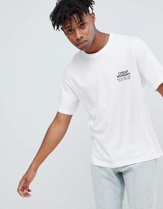 Cheap Monday Boxy Logo T-Shirt White