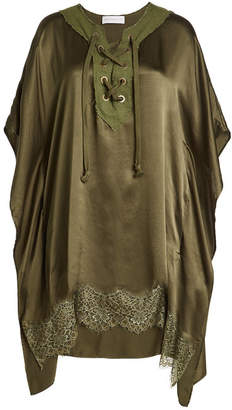 Faith Connexion Silk Poncho with Lace