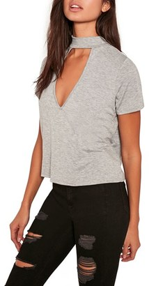 Women's Missguided Choker Tee $33 thestylecure.com