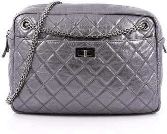 Chanel Reissue Camera Bag Quilted Metallic Large Silver