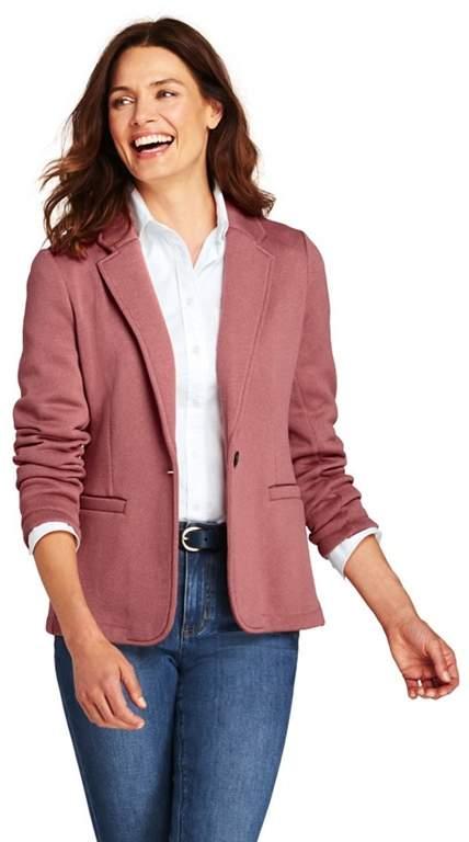 Pink Fleece Blazer