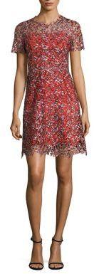 Elie Tahari Ella Lace Trim Dress $448 thestylecure.com
