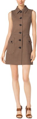 Michael Kors Mini Octagon Wool Shirtdress