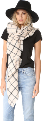 Spun Scarves by Subtle Luxury Windowpane Scarf $75 thestylecure.com