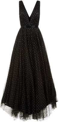 Jovani Glitter Spot Tulle Gown