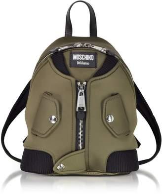 Moschino Military Green Nylon Bomber Jacket Backpack