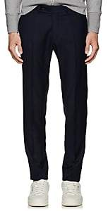 Brooklyn Tailors Men's Wool Flat-Front Trousers - Navy