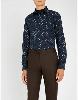 Paul Smith Printed tailored-fit cotton shirt