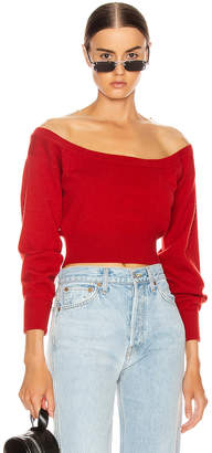 Alexander Wang Fitted Cropped Top in Red | FWRD